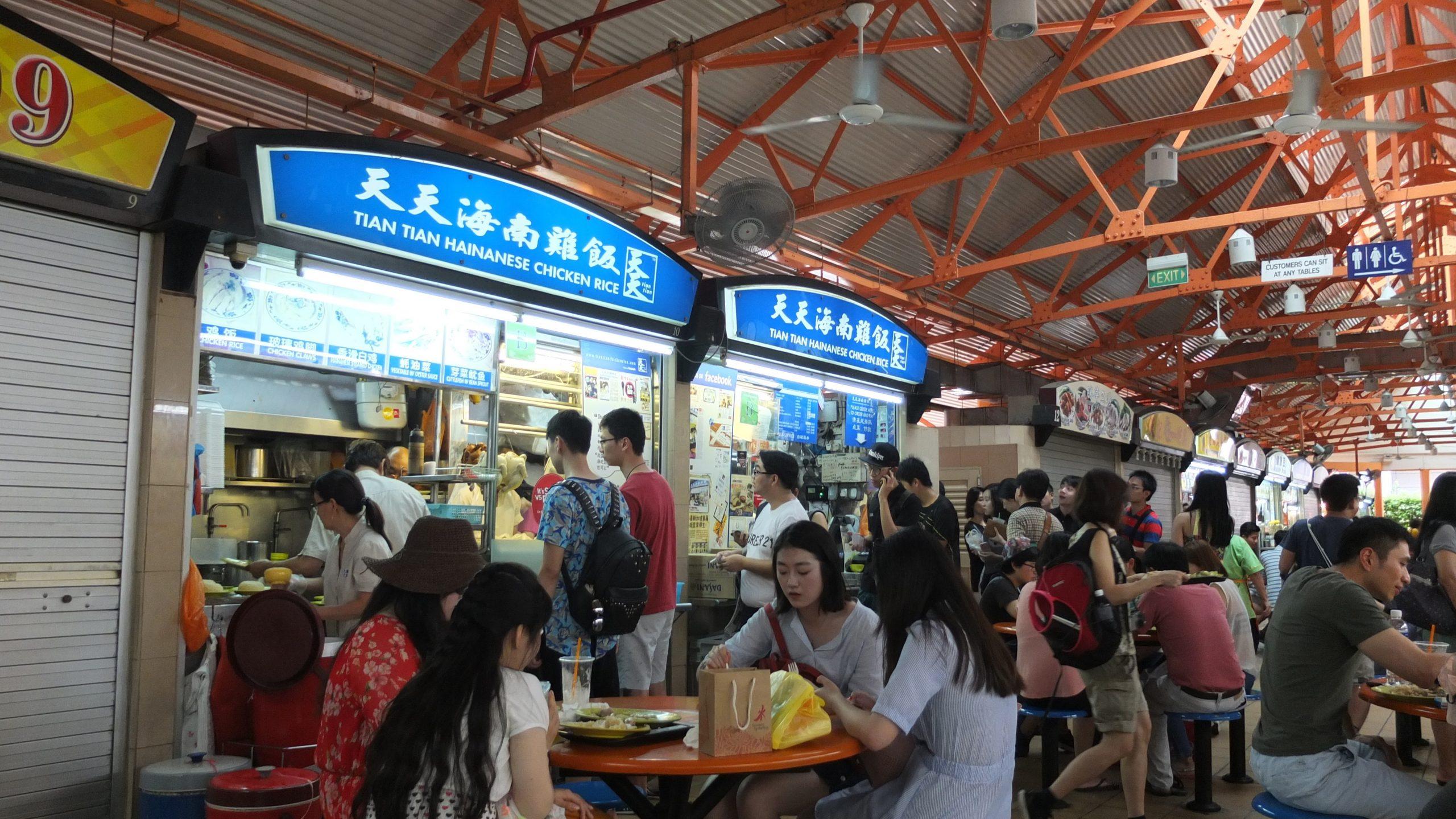 [新加坡] 天天海南雞飯:熟食中心裡米其林推薦的人氣雞飯